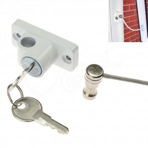 Bezpečnostný káblový zámok na okná a dvere, poistky na okná, bezpečnostné prvky, bezpečnostné zariadenia