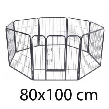 TFY No.4418 Kovová ohrádka pre zvieratá 80x100 cm