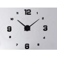 TFY 69587-B Nástenné nalepovacie hodiny s arabskými číslicami a ciferníkom, čierne