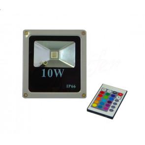 LuxRay IP66 LED reflektor 10W RGB  s diaľkovým ovládaním, farebný