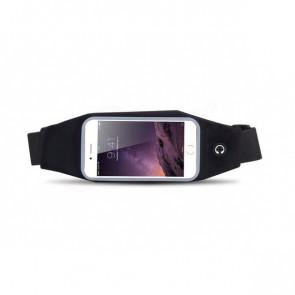 TFY 0874-black Športové puzdro pre mobil a drobnosti na pás, čierne, 28 x 11 x 3 cm