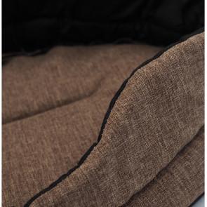 DANITEX Oval-Homelike 05 Pelech pre psa hnedý, 62 x 56 x 13,5 cm