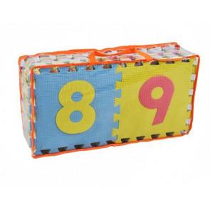 Eva Puzzle 4693 Penové puzzle s písmenami a číslami 30 x 30 cm, 36ks
