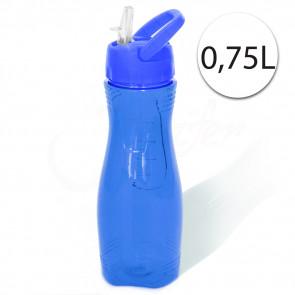 Perfect Home 28183BLUE-Kulacs Fľaša na vodu s držiakom, 0,75 L modrá