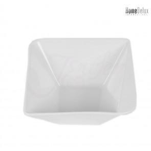 HomeDelux, HD12040 Quatre porcelánová miska, hranatá 6,5x13,8cm