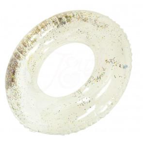 Jenifer No.7882 Nafukovacie koleso 90 cm, priesvitné s trblietkami