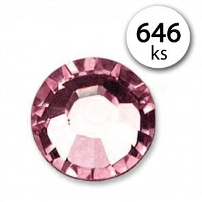Jenifer SP.B00984 Samolepiace kamienky kryštály 4mm 646 kusov, svetlo ružové
