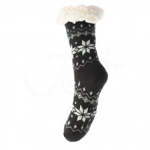 LOOKeN SM-HL-2033BRW6 Dámske ponožky TERMAL z ovčej vlny, 35-38 VLOČKA, hnedá