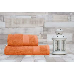 TFY Wellness-M11-Apricot Sada bavlnenej osušky s uterákom, 2ks,  55 x 100 cm, 70 x 140 cm, marhuľová