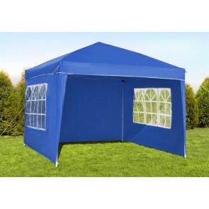 Malatec 2194 Záhradný stan - altán s oknami, 3x3 m, počet stien 3x, modrý