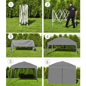 Malatec 7907 Záhradný stan, altánok 3x3 m, 4 steny, sivý