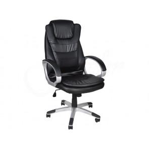 Malatec KK616 Kancelárska stolička z eko kože, čierna