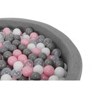 Malatec No.9265 Plastové loptičky do bazéna 1000 ks, šedo-ružové, priemer 5 cm