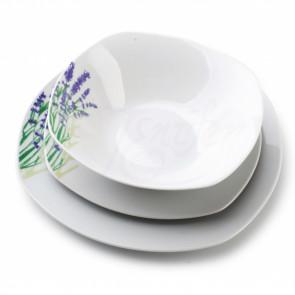 AFFEK DESIGN MX5860 Sada porcelánových tanierov 18ks levanduľa