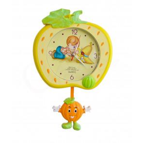 LovelyClock NO.114 Detské nástenné hodiny s kyvadlom