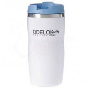 ODELO OD1447 Termohrnček, bielo-modrý, 0,280 L