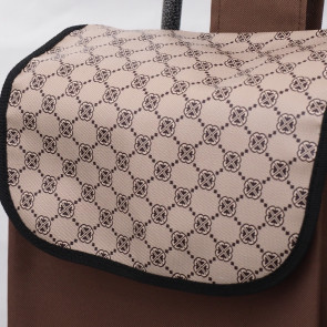 Ormi, K28-126 Nákupná taška na kolieskach 30L, nosnosť 20kg, hnedá