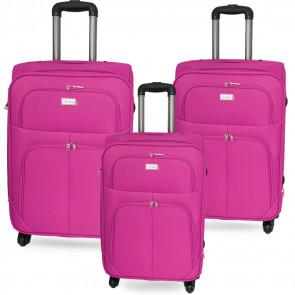 Ormi SetCase32-Pink Sada 3 cestovných kufrov L, M, S, ružové