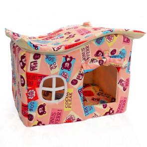 PetWaterloo No75598P Búda pre psov, pelech pre mačky, ružová, 34 x 40 x 50 cm