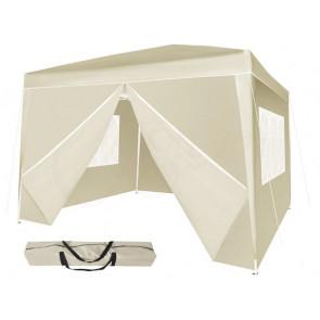 Malatec 5532 Záhradný stan - altán s oknami, 3x3 m, počet stien 4x, bežový