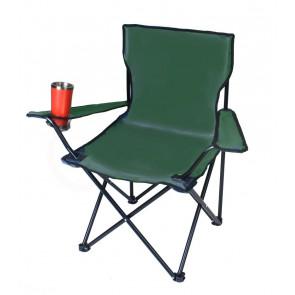 TFY Rybárska stolička rozkladacia, 50x50x80 cm, zelená