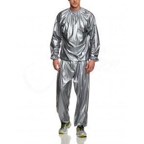 Sauna ASSEENON No.0004 Sauna oblek šedý, veľkosť XL