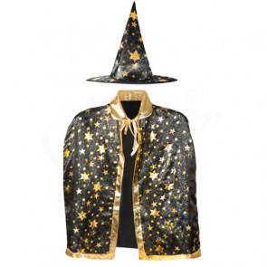 SISI 4357 Detský karnevalový kostým čarodejnica,  kostým čarodejnice, karnevalová maska čarodejnica, carodejnica maska