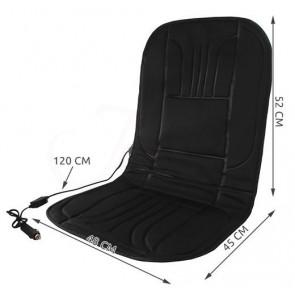 TFY 1033-black Vyhrievaný poťah sedadla do auta, 97x48cm