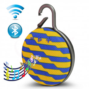 TFY 6-Rectangle-YelBlue Vodeodolný Bluetooth reproduktor, žlto-modrý