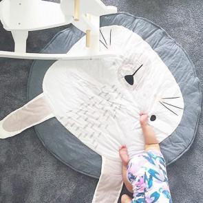TFY KX7618-grey Detská podložka KRÁLIK, priemer 90cm