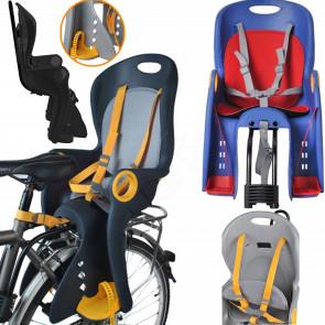 TFY MOD1624 Sedačka na bicykel, cyklosedačka pre deti s nosnosťou 22kg, zadná, modrá