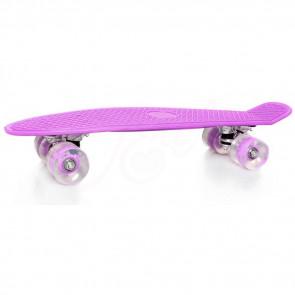 TFY PL-83104 PennyBoard svietiaci skateboard, fialový