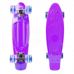 TFY PL-83098 PennyBoard svietiaci skateboard, fialový