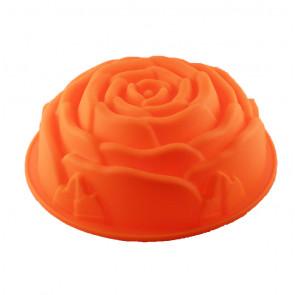 TFY SF5026 Silikónová forma na pečenie bábovky ruža 26x9cm, oranžová