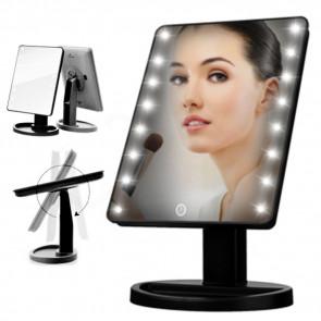 Nastaviteľné LED zrkadlo, led zrkadlo, kozmeticke zrkadlo