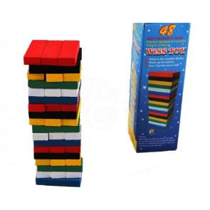 Drevená veža Wiss Toy farebná