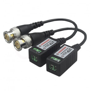 Video Balun UTP202A Pasívny CCTV video prevodník CAT5, 600m, DC-8 MHz, PAL / CCIR / SECA NTSC, 60 dB